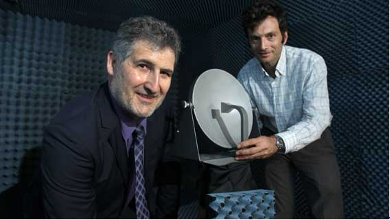 Jean-Marc Villevielle, Chief Operating Officer of Space Engineering and Dr George Goussetis, Reader in Sensors Signals and Systems in the School of Engineering and Physical Sciences.