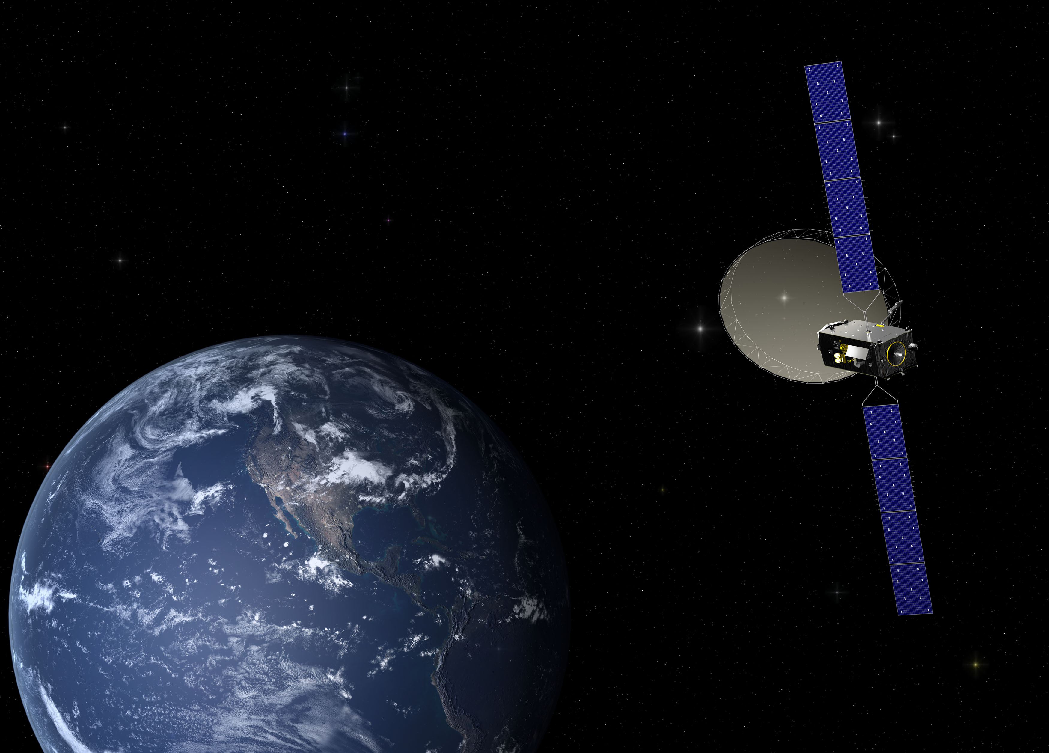 Alphasat in orbit